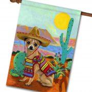 Chihuahua Sombrero  House Flag   28u0027u0027 ...
