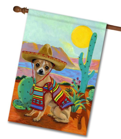 Chihuahua Sombrero- House Flag - 28'' x 40''