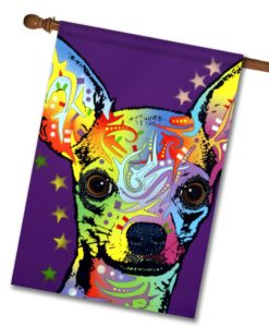 Chihuahua Superstar - House Flag - 28'' x 40''