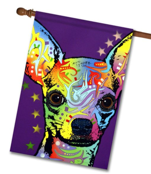 Chihuahua Superstar - House Flag - 28'' x 40''