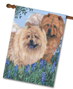 Chow Chow Meadow - House Flag - 28'' x 40''