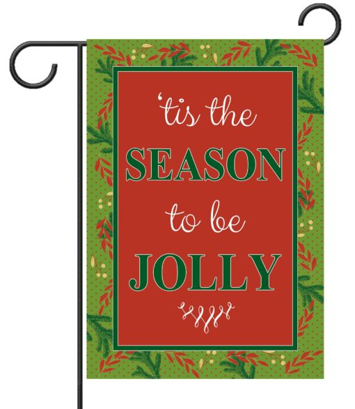 Christmas Greenery tis the Season - Garden Flag - 12.5'' x 18''
