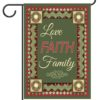 Christmas Love Faith & Family - Garden Flag - 12.5'' x 18''