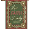 Christmas Love Faith & Family - House Flag - 28'' x 40''