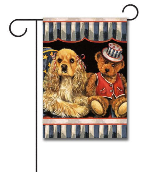 Cocker Spaniel Annie and Henrie- Garden Flag - 12.5'' x 18''