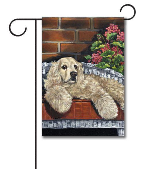 Cocker Spaniel Life is Good - Garden Flag - 12.5'' x 18''