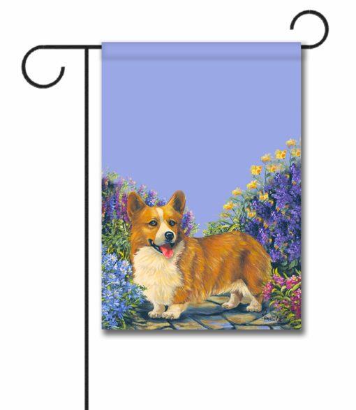 Corgi Garden Georgi - Garden Flag - 12.5'' x 18''