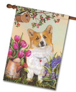 Corgi Sunshine - House Flag - 28'' x 40''