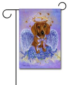 Dachshund Angel- Garden Flag - 12.5'' x 18''
