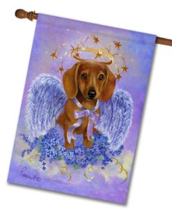 Dachshund Angel- House Flag - 28'' x 40''