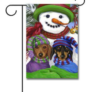 Dachshund Snowman  Garden Flag   12.5u0027u0027 ...