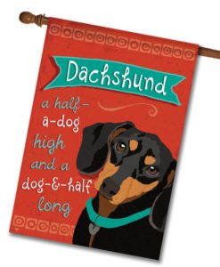 Dachshund- House Flag - 28'' x 40''