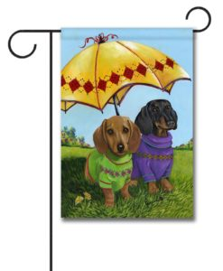 Dachshund Hot Doggies - Garden Flag - 12.5'' x 18''