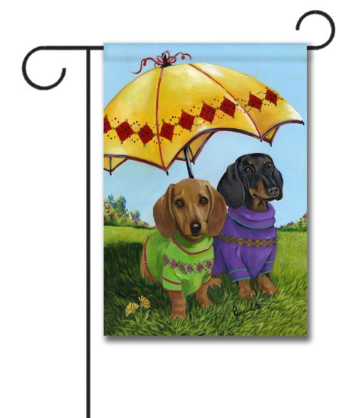 Dachshund Hot Doggies - Garden Flag - 12.5'' x 18''