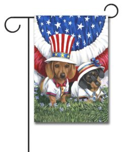 Dachshund USA- Garden Flag - 12.5'' x 18''