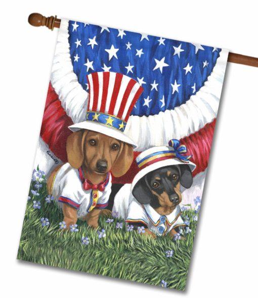 Dachshund USA- House Flag - 28'' x 40''