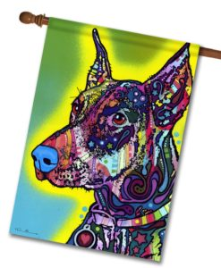 Doberman - House Flag - 28'' x 40''