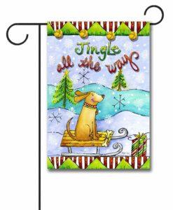 Jingle All The Way - Garden Flag - 12.5'' x 18''