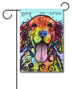 """Dog is Love - Garden Flag 12.5""""x18"""""""