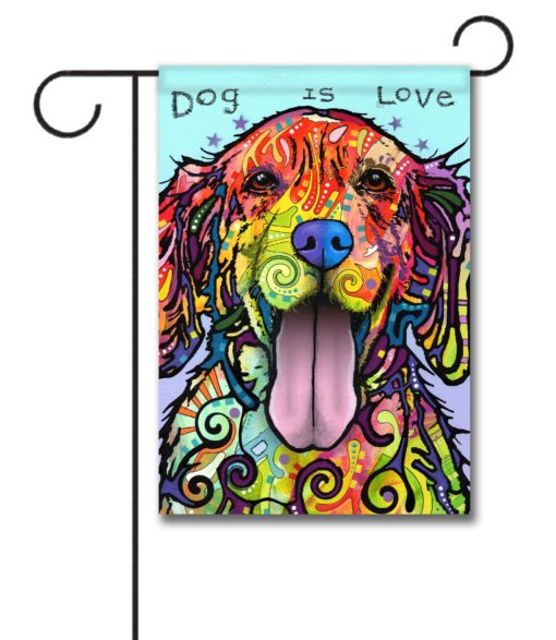 "Dog is Love - Garden Flag 12.5""x18"""