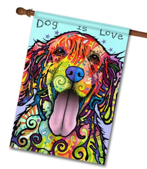 Dog is Love - House Flag - 28'' x 40''