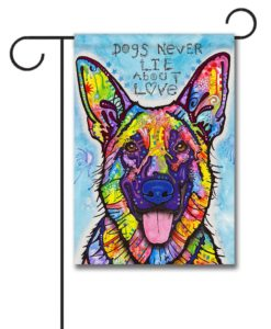 Dogs Never Lie - Garden Flag - 12.5'' x 18''