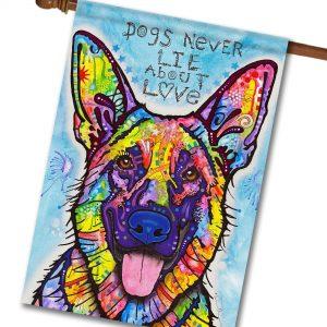 Dogs Never Lie - House Flag - 28'' x 40''