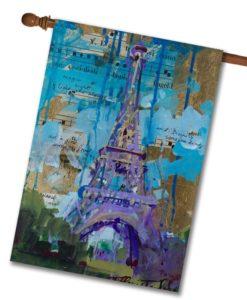 Eiffel Tower- House Flag - 28'' x 40''