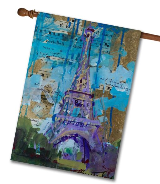 Eiffel Tower- House Flag - 28'' x 40''