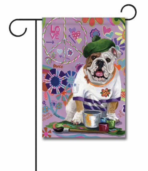 English Bulldog Grafitti - Garden Flag - 12.5'' x 18''