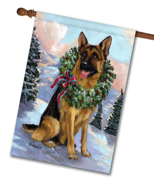 German Shepherd - House Flag - 28'' x 40''