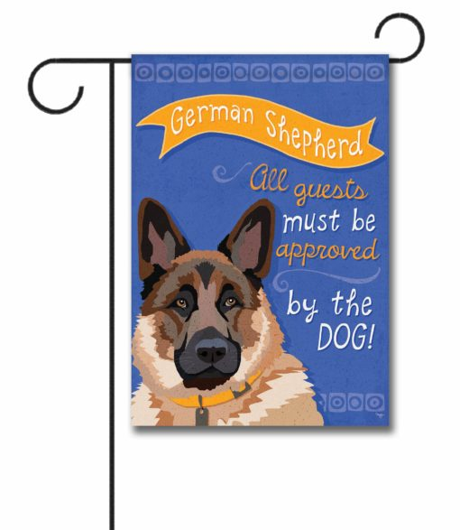 German Shepherd- Garden Flag - 12.5'' x 18''