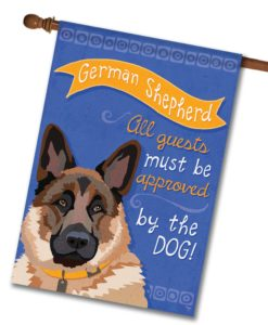 German Shepherd- House Flag - 28'' x 40''