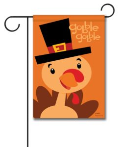 Gobble Gobble Turkey- Garden Flag - 12.5'' x 18''