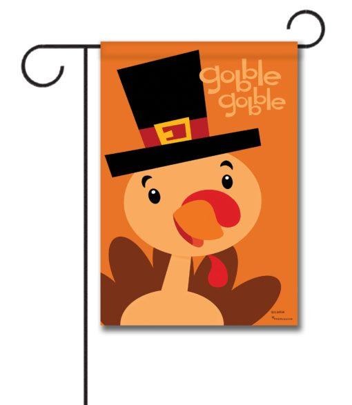 Gobble Gobble Turkey- Garden Flag - 12.5'' x 18''