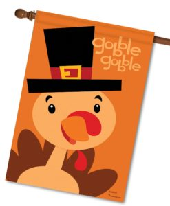 Gobble Gobble Turkey - House Flag - 28'' x 40''