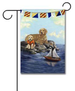 Golden Retriever Golden Retreat- Garden Flag - 12.5'' x 18''