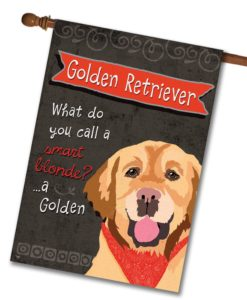 Golden Retriever- House Flag - 28'' x 40''