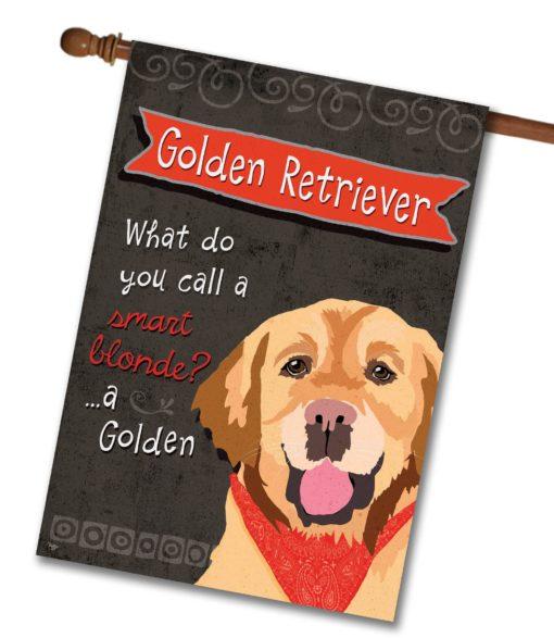 Golden Retriever- House Flag - 28'' x 40''