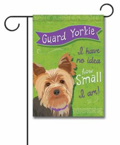 Guard Yorkie- Garden Flag - 12.5'' x 18''