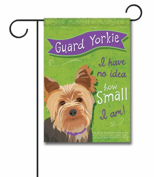 Guard Yorkie- Garden Flag - 12.5'' x 18''