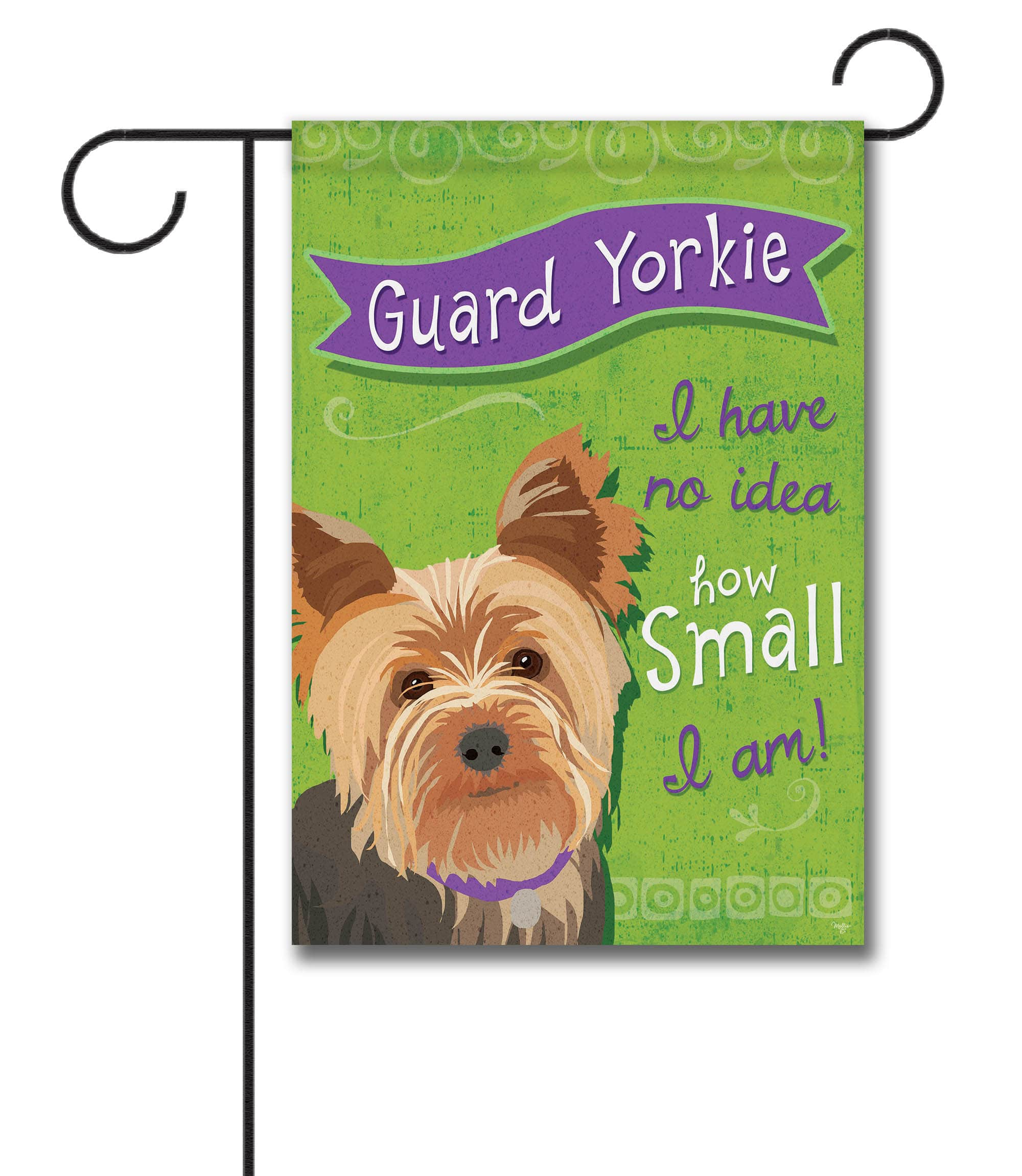Guard Yorkie  Garden Flag U2013 12
