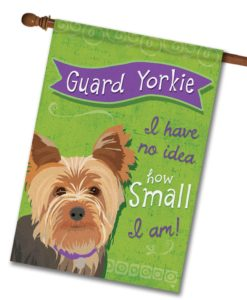 Guard Yorkie- House Flag - 28'' x 40''