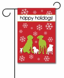 Happy Holidogs - Garden Flag - 12.5'' x 18''