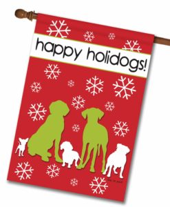 Happy Holidogs - House Flag - 28'' x 40''