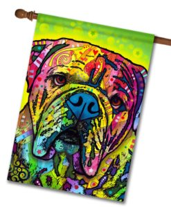 Hey Bulldog - House Flag - 28'' x 40''