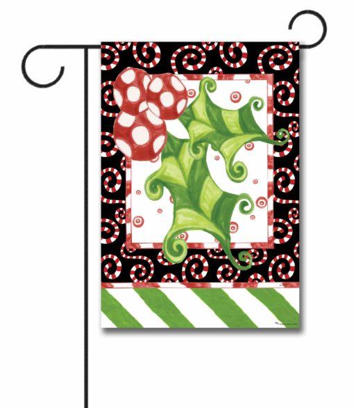 Holly Leaf - Garden Flag - 12.5'' x 18''