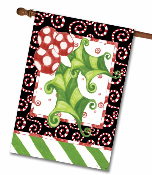 Holly Leaf- House Flag - 28'' x 40''