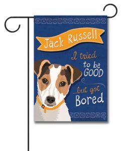 Jack Russell- Garden Flag - 12.5'' x 18''