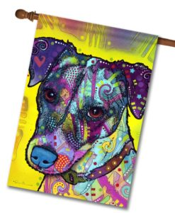 Jack Russell - House Flag - 28'' x 40''